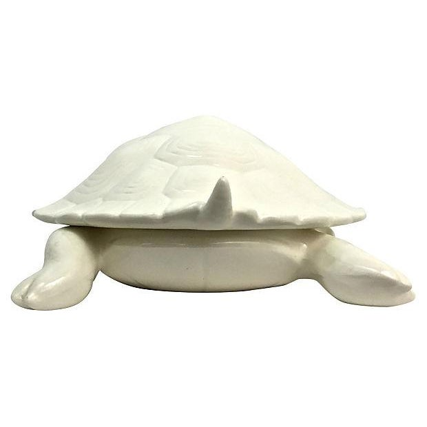 Hand-Cast Ceramic Turtle Bowl With Shell Lid - Image 6 of 9