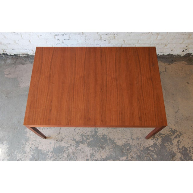 1957 Vintage Florence Knoll for Knoll International Walnut Extension Dining Table - Image 9 of 10