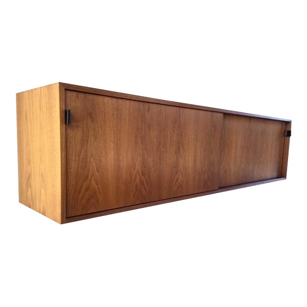 Florence Knoll Wall Mounted Credenza Cabinet For Sale
