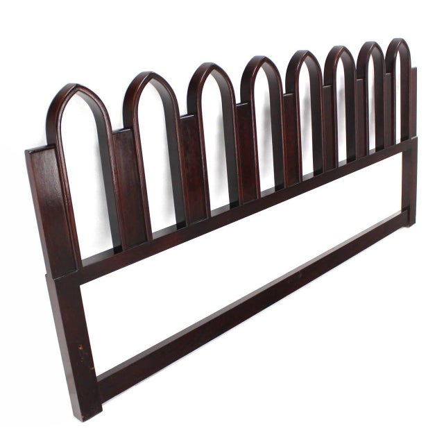 Brown Harvey Probber Mahogany Cultured King-Size Headboard For Sale - Image 8 of 9