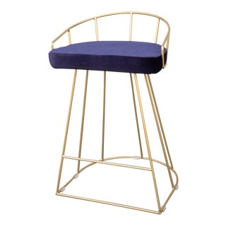 Modern Gold Bar Chair For Sale