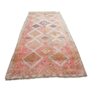 1970s Vintage Turkish Oushak Rug - 4′10″ × 10′6″ For Sale