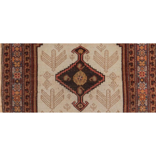 Textile Early 20th Century Antique Malayer Village Rug - 3′6″ × 5′11″ For Sale - Image 7 of 8