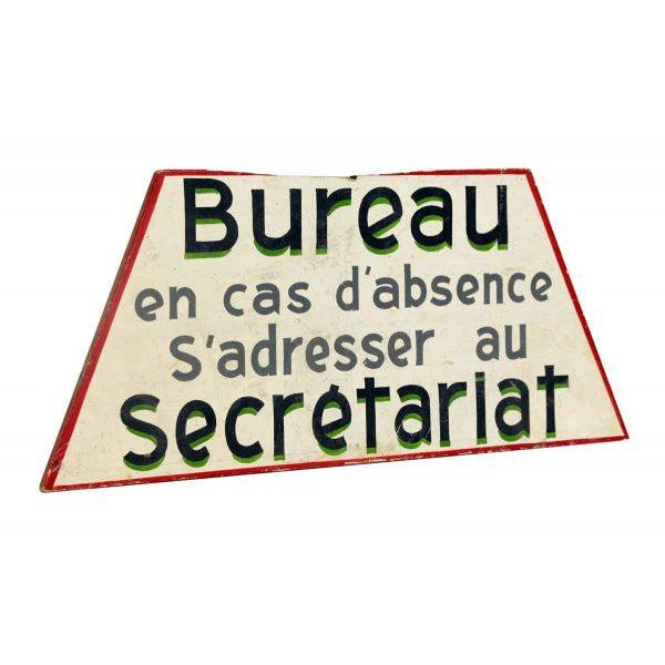 Wooden French Bureau Sign - Image 4 of 4