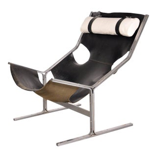 Leather Lounge Chair by Polak Netherlands, circa 1960