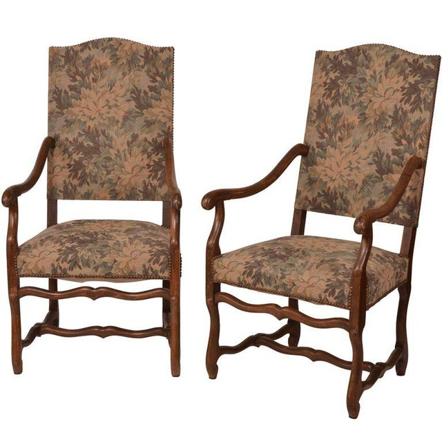 French Antique Arm Chairs - A Pair - Image 1 of 5