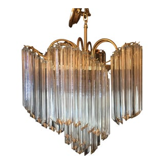 Vintage Unique Italian Venini Murano Chandelier For Sale