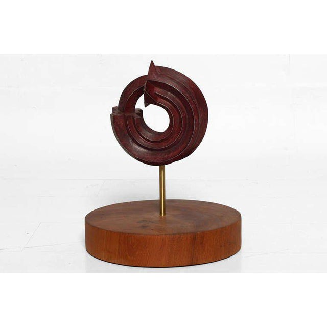 For your consideration a bronze sculpture signed by Sebastian 2003, 160/750. The sculpture has a red patina mounted in...