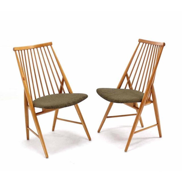 Pair of Swedish Spindle Dowel Back Chairs For Sale - Image 10 of 10