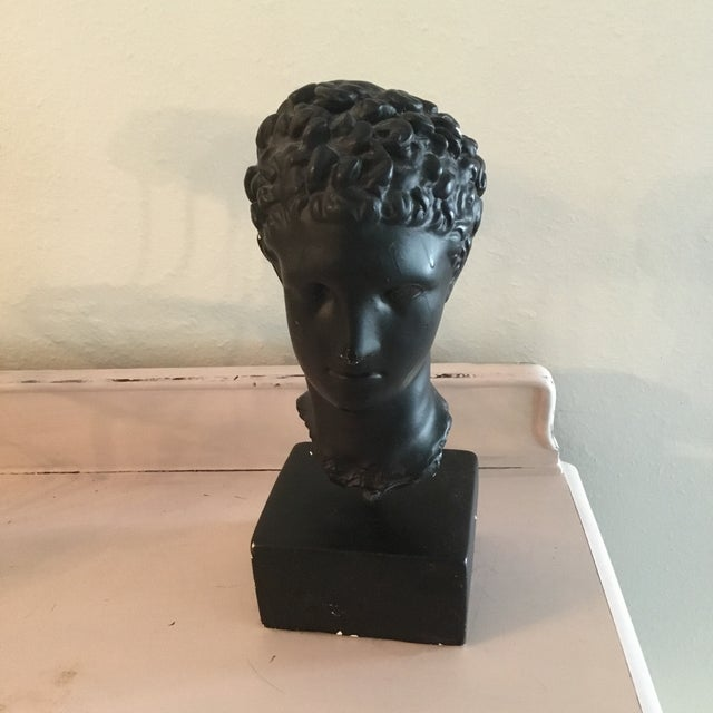 1980s Bust of Head on Base For Sale - Image 5 of 5
