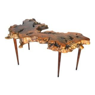 1960s Big Sur Burl Slab Table For Sale