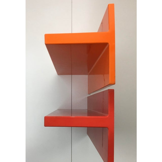 Mid-Century Modern 1970s Vintage Wall-Mounted Plastic Shelves by Marcello Siard for Kartell - a Pair For Sale - Image 3 of 13