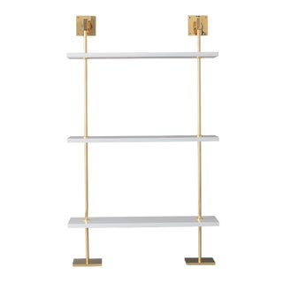 Marais 3-Tier White & Gold Shelf For Sale