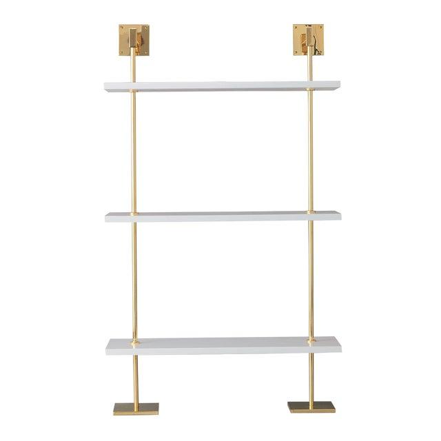 Marais 3-Tier White & Gold Shelf For Sale