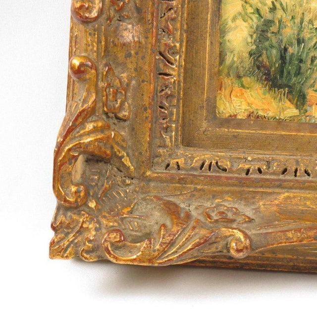 20th Century Alexandre Mediterranean Landscape Miniature Painting For Sale In Atlanta - Image 6 of 9