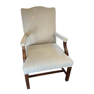 1930s Vintage Mahogany Lolling Chair For Sale
