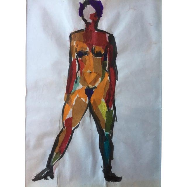 Estelle Levin Siegelaub 1960s Female Nude Collage For Sale