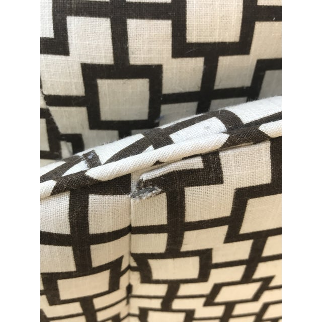 Geometric Pattern Upholstered Rocking Chair - Image 6 of 6