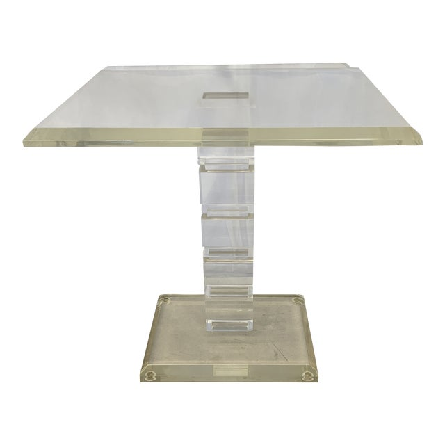 Vintage Lucite Side Table For Sale