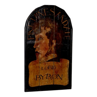 "19th Century ""Lord Byron"" English Pub Sign For Sale"