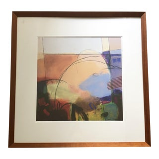 Ursula Bennett Abstract, Framed and Matted