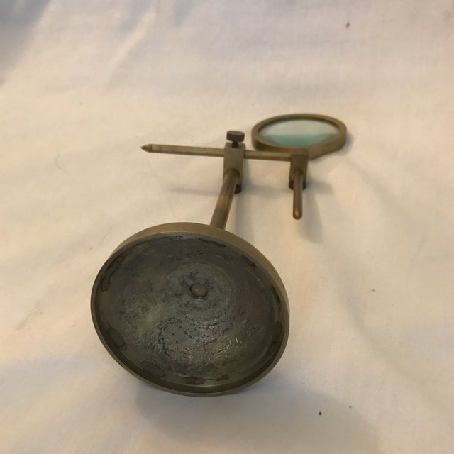 Vintage Magnifying Glass With Adjustable Brass Stand For Sale - Image 11 of 11