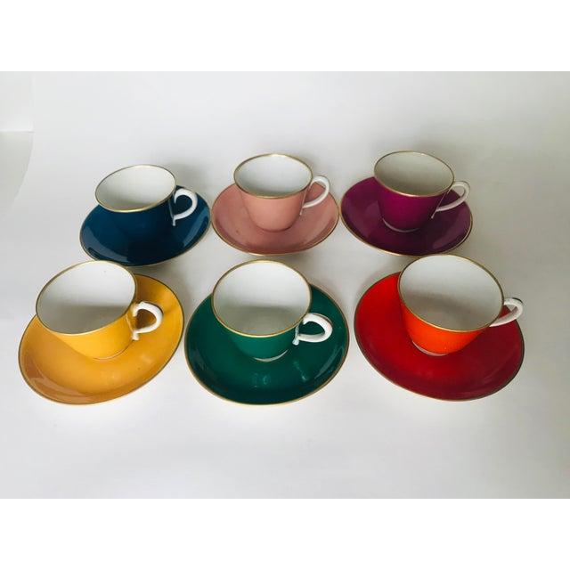 Mid Century Italian Richard Ginori Tea Cups/Demitasse Set - Set of Six, 12 Pieces For Sale - Image 13 of 13