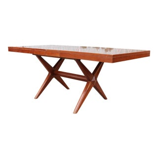 Vintage Walnut Dining Table For Sale