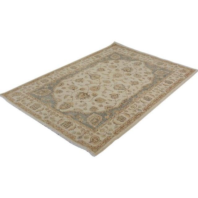 "Textile Kafkaz Peshawar Daren Ivory/Ivory Wool Rug - 3'11"" X 5'10"" A9487 For Sale - Image 7 of 7"