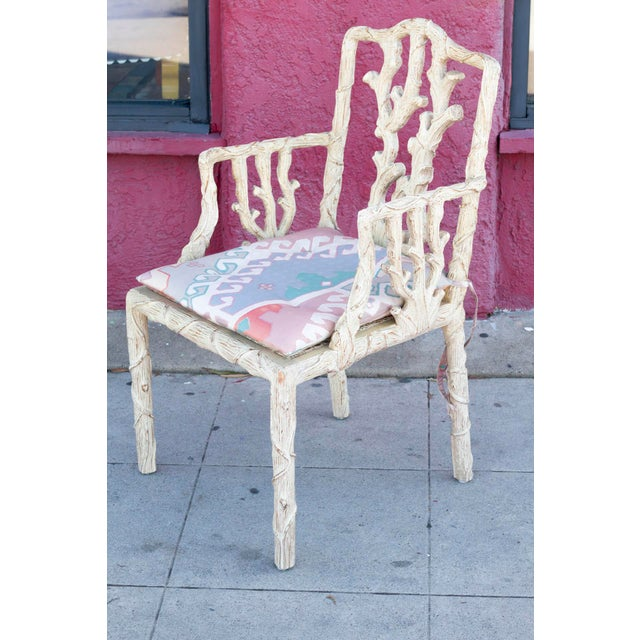 Decorative Branch Faux-Bois Chairs - Set of 4 - Image 3 of 10