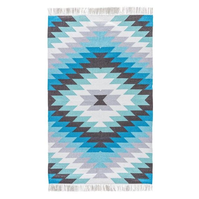 Jaipur Living Mojave Indoor/ Outdoor Geometric Aqua/ Gray Area Rug - 2′ × 3′ For Sale In Atlanta - Image 6 of 6