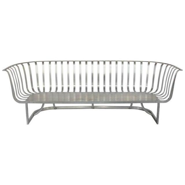Rare Aluminum Sofa by Russell Woodard - Image 2 of 2