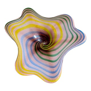 Mid-Century Modern Italian Glass Candy Dish For Sale