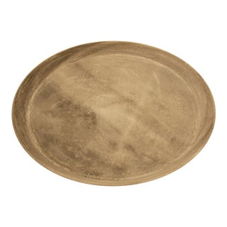 Rustic Minimalist Carved Marble Dish For Sale