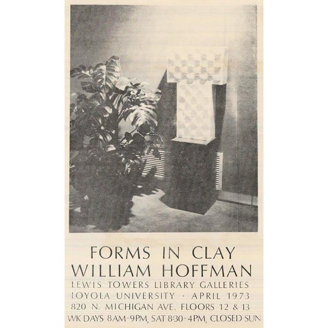 "White William A. Hoffman (1920-2011) Two-Piece Clay Sculpture Titled ""Two Crates"" For Sale - Image 8 of 9"