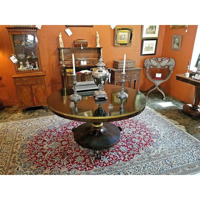 Hollywood Regency British Regency Tilt Top Center Table For Sale - Image 3 of 9