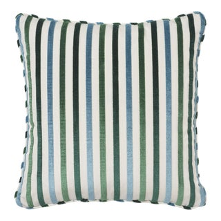 Schumacher Le Matelot Pillow in Peacock For Sale