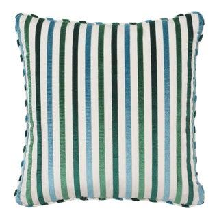 Schumacher Le Matelot Pillow in Peacock For Sale