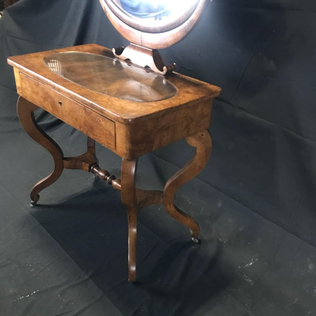 Mid 19th Century Mid 19th Century French Walnut Dressing Table For Sale - Image 5 of 13