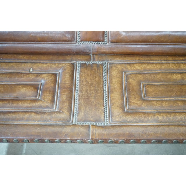Leather Decorative Leather Bench For Sale - Image 7 of 12