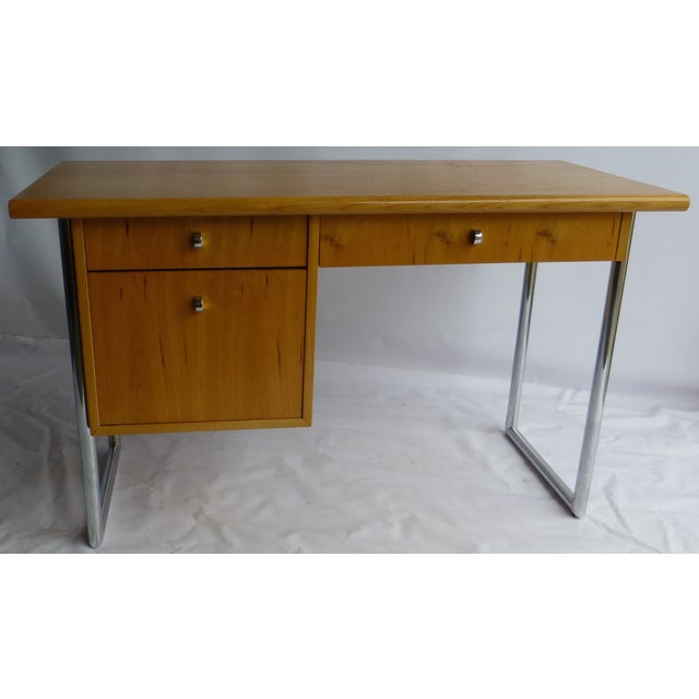 Jack Cartwright Mid-Century Birch Founders Desk - Image 2 of 9