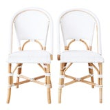 Image of Serena and Lily Bamboo Riviera Rattan French Bistro Chairs For Sale