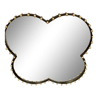 Arteriors Elena Modern Quatrefoil Wall Mirror For Sale