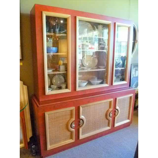 REDUCED FROM $6,795.....This breakfront cabinet was made by Stewartstown Furniture Company in the 1940s. A rare find as a...