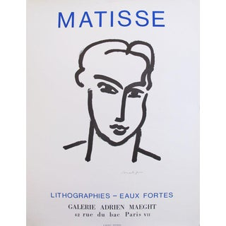 1964 Matisse Exhibition Poster, Grande Tete De Katia For Sale
