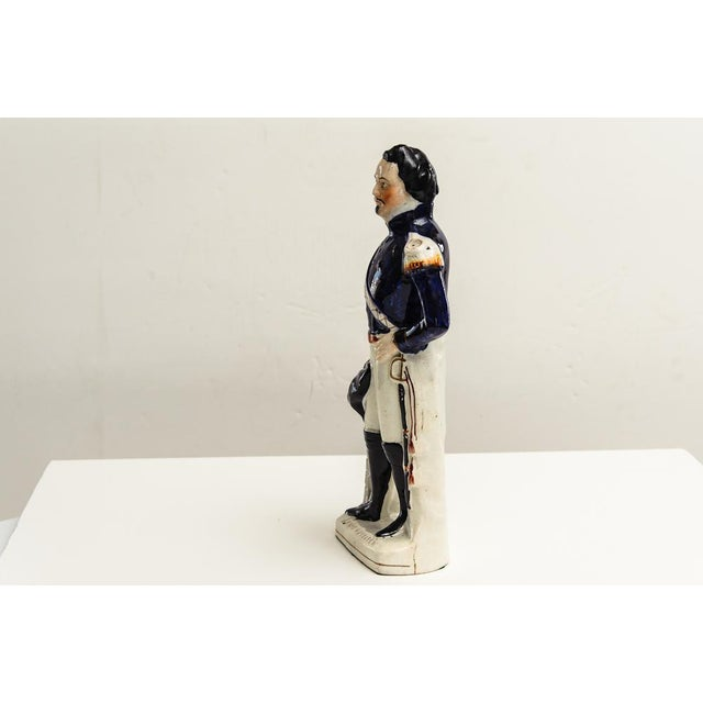 English Traditional Antique Staffordshire Napoleon For Sale - Image 3 of 6