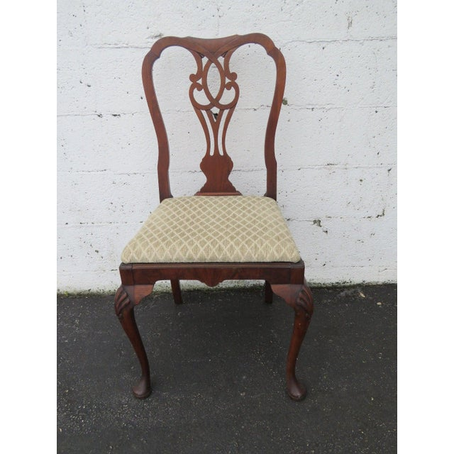 Carved Desk Vanity Chair by Berkey and Gay Furniture For Sale - Image 10 of 10