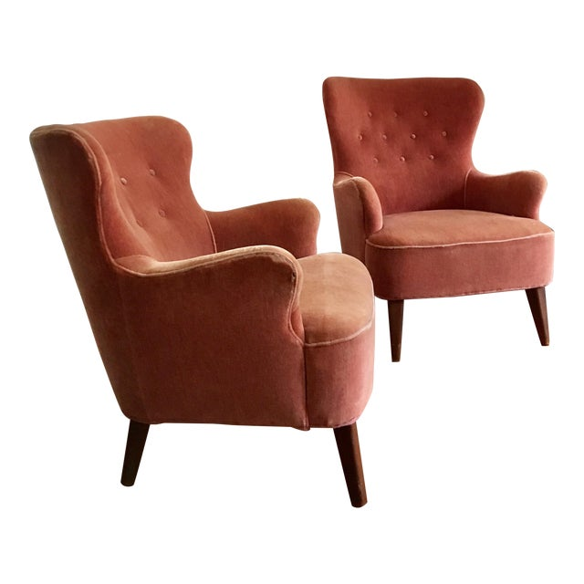 1958 Vintage Theo Ruth for Artifort Mid Century Danish Modern Lounge Chairs - a Pair - Image 1 of 6