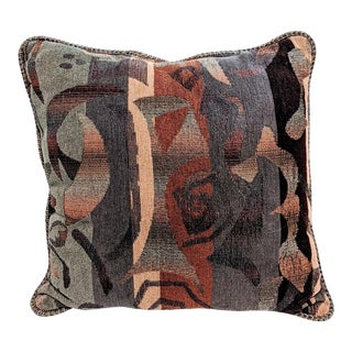 1990s Joan Miro Style Abstract Accent Pillow For Sale