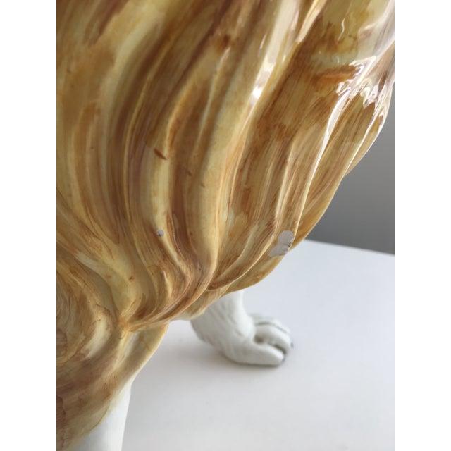 Ceramic Italian Ceramic Collie Statue For Sale - Image 7 of 9
